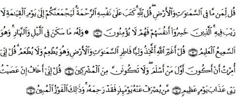 tulisan arab alquran surat al an'am ayat 12-16