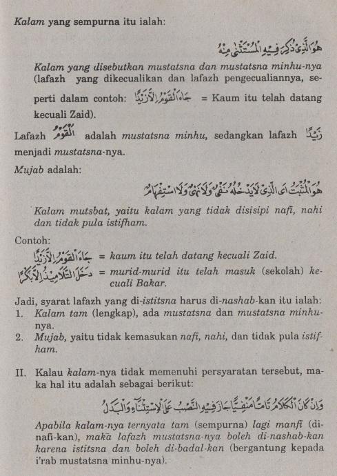 belajar bahasa arab ilmu nahwu -bab istisna' -pengecualian 2