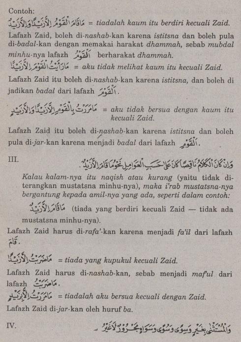belajar bahasa arab ilmu nahwu -bab istisna' -pengecualian 3