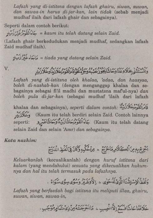 belajar bahasa arab ilmu nahwu -bab istisna' -pengecualian 4