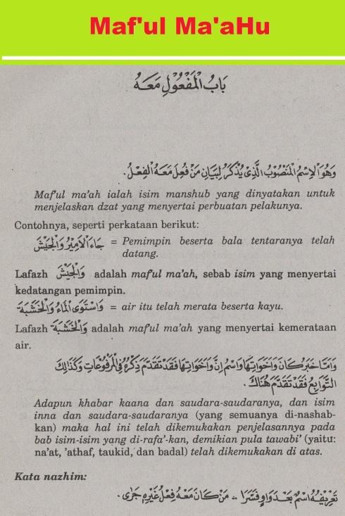 belajar bahasa arab ilmu nahwu -bab maf'ul ma'ahu 1