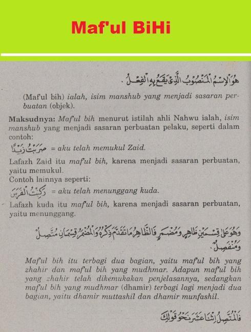 belajar bahasa arab ilmu nahwu -maf'ul bihi 1
