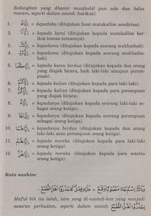 belajar bahasa arab ilmu nahwu -maf'ul bihi 4