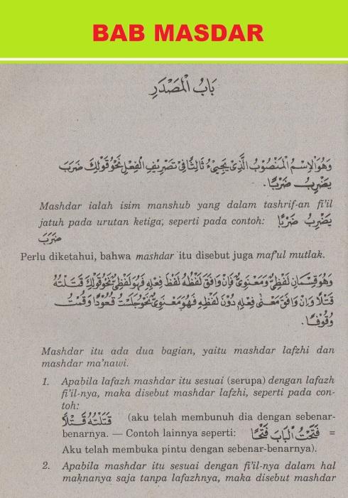 belajar bahasa arab ilmu nahwu -masdar 1