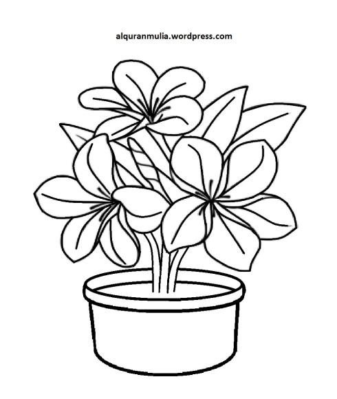 Mewarnai Gambar Bunga Anak Muslim 15