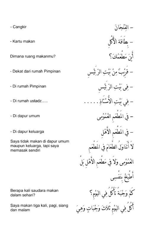 hiwar percakapan bahasa arab - di ruang makan - 2