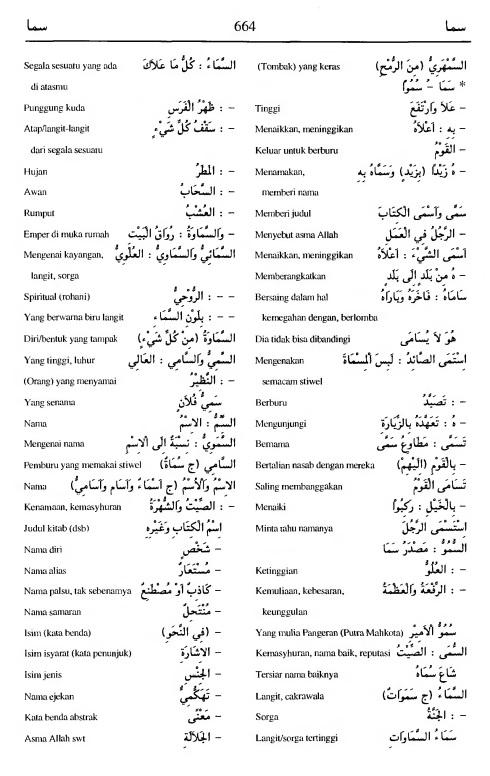 664. Kamus Bahasa Arab Al-Munawir --samaa-samaa