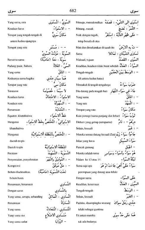682. Kamus Bahasa Arab Al-Munawir --sawaya-sawaya