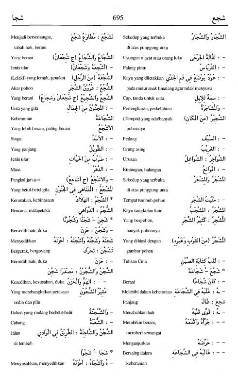 695 Kamus Bahasa Arab Al-Munawir --syaja'a--syajaa