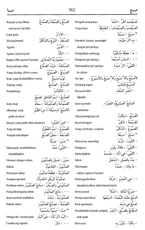 762 Kamus Bahasa Arab Al-Munawir --shoba'a-shabaa