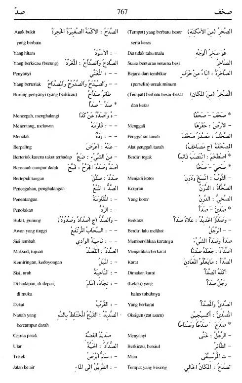 767 Kamus Bahasa Arab Al-Munawir --shakhafa-shadda